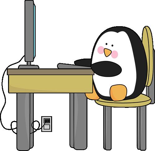 penguin-using-computer