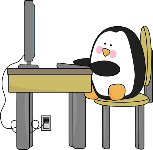 penguin-using-computer